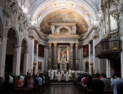 El cardenal Cañizares preside la eucaristía en la fiesta académica de la Facultad por su patrón, San Vicente Ferrer