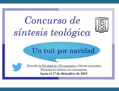 Participa en el Concurso de Síntesis Teológica «Un tuit por navidad» hasta el martes 17 de diciembre