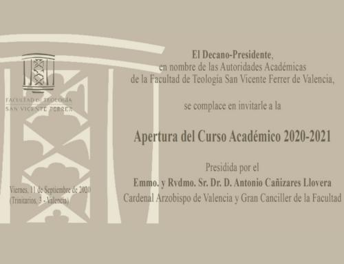El 11 de septiembre, Solemne Apertura de curso de la Facultad en la Iglesia de San Esteban