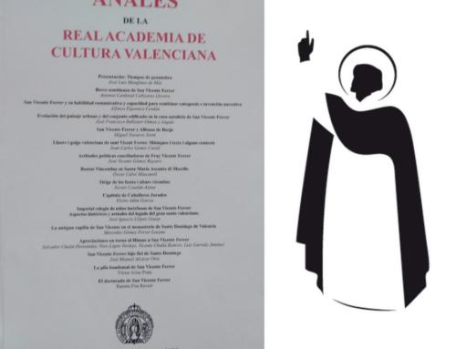 Profesores y eméritos de la Facultad participan en el último número de 'Anales de la RACV', dedicado a la figura de San Vicente Ferrer