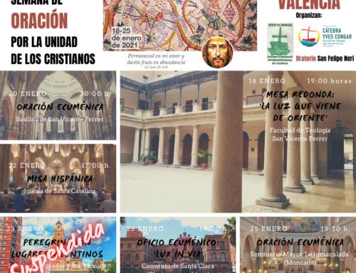 Actos de la 'Semana de Oración por la Unidad de los Cristianos'. Del 18 al 25 de enero