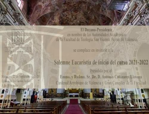 Eucaristía de inicio de curso, este miércoles 22 a las 9:30 horas